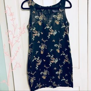 Silky Floral Party Dress 🍹🥡
